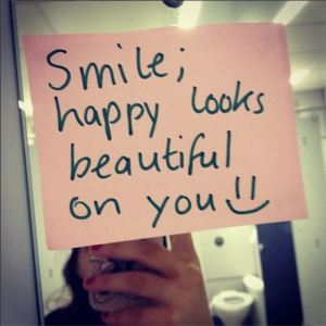 Smile, Happy looks beautiful on you